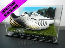 Signed LUKE BALL & ALEX FASALO Boots PROOF COA Collingwood Magpies 2017 Guernsey
