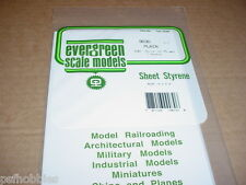 "Evergreen Styrene Sheet Plastic .030 White Scratch Building 2 pcs 12"" x 6"""