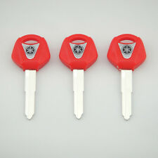 3 pcs Red Blank Key Uncut for Yamaha YZF R1 R6 FZ1 FZ6 600R XJR1300 Motorcycle