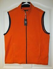 MEN'S CHARTER CLUB ORANGE ZIP UP FLEECE VEST NWT SIZE XLARGE MSRP $45.00