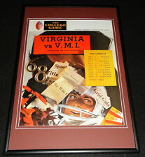 September 28 1968 VMI vs Virginia Football Framed 10x14 Poster Official Repro B