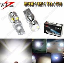 2 bulbs High Power Projector 30W LED 921 W16W T15 T16 Back up Reverse Light Lamp
