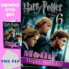 HARRY POTTER - PERSONALISED Birthday Card Daughter Sister Niece