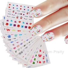 48 Sheets Water Decal Flower Butterfly Design Manicure Nail Transfer Stickers