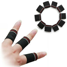 10x Black Stretchy Finger Protector Sleeve Support Arthritis Sports Aid Band Set