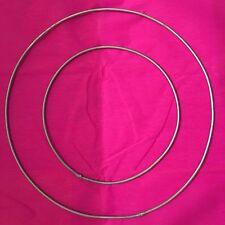 """2 METAL HOOPS -23cm & 15cm,9""""&6"""" ,dreamcatcher,pentacles ,ring,rustproof,8gauge"""