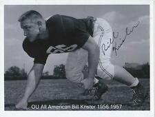 "BILL KRISHER Autographed Signed 4"" x 6"" photo Oklahoma Sooners COA"