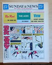 New York Sunday News - color Sunday comic section - Friday Foster - Jan. 9, 1972