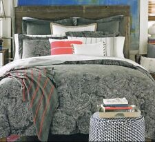 Tommy Hilfiger Canyon Paisley 3PC Full/Queen Duvet Cover Set - Charcoal White