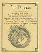 FIRE DRAGON - POSTER  Wicca Pagan Witch Witchcraft Goth Punk BOOK OF SHADOWS