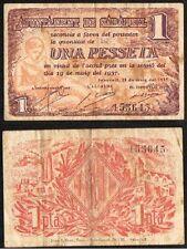 GUERRA CIVIL. 1 Peseta. Ayuntamiento de Sabadell. 1ª emisión. 19 Mayo de 1937.