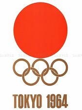 SPORT ADVERT EXHIBITION EVENT 1964 TOKYO OLYMPIC GAMES RISING SUN PRINT LV3872