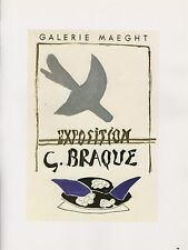 "1989 VINTAGE ""G. BRAQUE GALERIE MAEGHT"" MOURLOT MINI POSTER COLOR Art Lithograph"