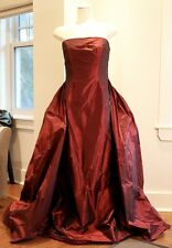 Ralph Lauren Black Label Red Burgundy Silk Evening Gown Dress NWT!!