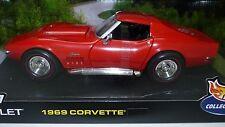 HOT WHEELS 1969 Corvette 427 Red 1/18 NIB