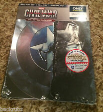 CAPTAIN AMERICA: CIVIL WAR Steelbook / 3D, Blu Ray, Digital / Best Buy / Marvel