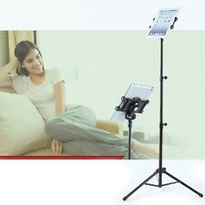 ProMount iPad Floor Stand w/ Tripod Base Height Adjustable Post Carry Case Black