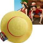 FD3465 One Piece Luffy Anime Cosplay Straw Boater Beach Hat Cap Halloween Gift♫