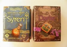 SEPTIMUS HEAP: SYREN & DARKE by ANGIE SAGE ~ SIGNED 1ST EDITIONS (1 DATED) HB