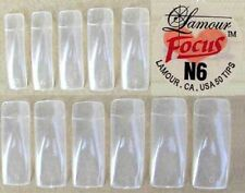 Lamour Focus Full-moon Clear Tips - 500ct - 14755