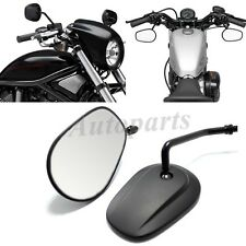 Motorcycle Black Matte Reaview Mirrors For Harley Davidson Sportster 1200 883 XL