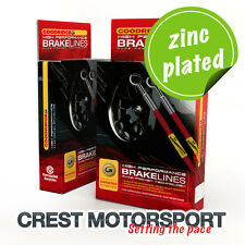 BMW Mini Mk1 (R50/R52/R53) One/Cooper/S 9/03-12/06 Goodridge Brake Hoses (Zinc)