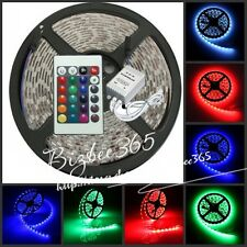 12V DC 5M RGB 300leds 5050 Non-Waterproof SMD Flexible Light Strip +24key Remote