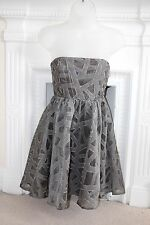 BNWOT Alice + Olivia Sleeveless Grey Bandeau mini Dress xs 8