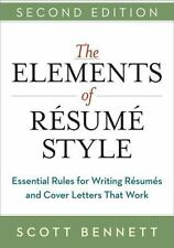The Elements of Resume Style: Essential Rules for Writing Resumes and-ExLibrary