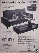 PUBLICITÉ 1957 SIÈGES AIRBORNE DIVAN-LIT - ADVERTISING