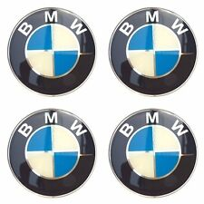 BMW 45 mm.Resin Wheel Center Caps Logo Badge Decal Emblem Sticker 4 Pcs NEW