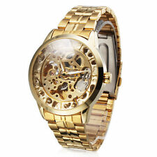 Luxury Gold-plated men's mechanical watch for gift analog wrist watch for man