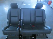 2007 - 2015 YUKON TAHOE EBONY BLACK VINYL SECOND ROW SEAT COMPLETE CHEAP #61T