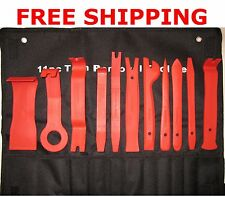 11 pc Trim Removal Tool Kit upholstery trim moldings pry clip dash door panels