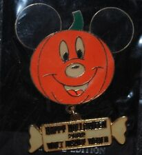 Disney Pin - WDW - Halloween 2002 (Mickey Pumpkin) Dangle LE 3500 New on Card