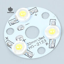 Warm White 3W High Power LED Light Board Applied 3pcs LEDs Aluminum Plate