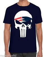 NEW ENGLAND PATRIOTS PUNISHER T-shirt NFL USA SUPER BOWL ALL SIZES !!! FAST POST