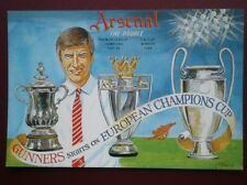 POSTCARD SPORT ARSENAL FOOTBALL - THE DOUBLE 1997-98 - SIGHTS ON EUROPEAN CUP