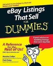 eBay Listings That Sell For Dummies (For Dummies (ComputerTech))