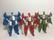 COMPLETE SET of 1/55 scale ROBOTECH ALPHA FIGHTERS LEGIOSS AFC-01 MOSPEADA used