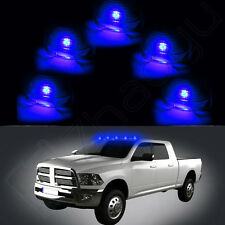 5 Smoke Roof Running Light Cab Marker Cover + Free Blue T10 LED Bulbs for Ford