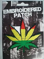 "(D25) RASTA MARIJUANA LEAF 3.5"" x 3.5"" sew / iron on patch (EP113)"