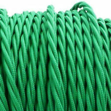 PEA GREEN TWIST vintage style textile fabric electrical cord cloth cool cable 1m