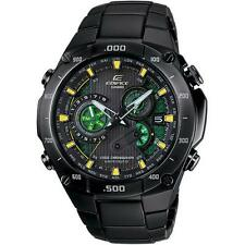 Casio Men's EDIFICE Black Label Solar Power Atomic Green Chronograph Watch 5289