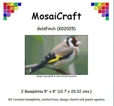 MosaiCraft Pixel Craft Mosaic Art Kit 'Goldfinch' (Inc. Dove Tail Clips)