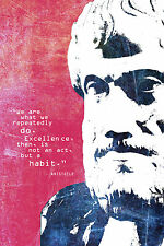 ARISTOTLE MOTIVATIONAL ART PRINT PHOTO POSTER GIFT WE ARE WHAT WE DO REPEATEDLY