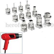 12Pcs 3-12mm 10 13 16.5 22.5mm Heat Gun Nozzle For 850 Hot Air Soldering Station