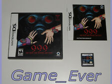 999 NINE HOURS NINE PERSONS NINE DOORS - DS 3DS - ENGLISH VERSION ENGELS VERSIE