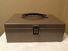 VINTAGE ROCKAWAY FIRE RESISTANT LOCK BOX SECURITY CHEST STRONG BOX WITH 2 KEYS
