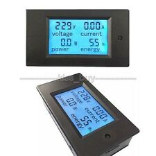 AC 20A Power Monitor Volt Amp kWh Watt Digital Panel Eletric Combo Meter 220V